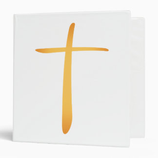 Modern Latin Christian Cross Binder