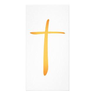 Modern Latin Christian Cross Card