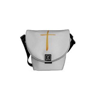 Modern Latin Christian Cross Messenger Bag