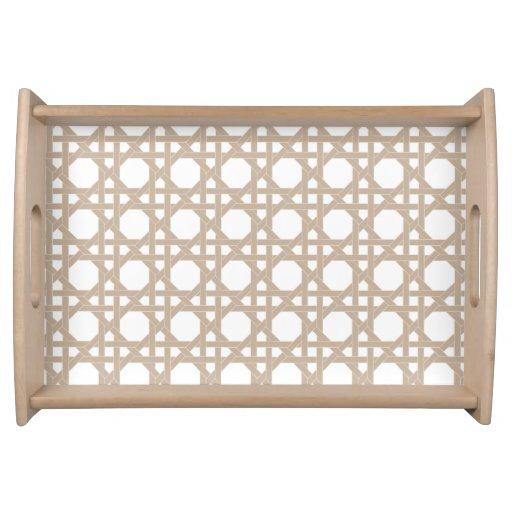 Modern lattice garden pattern fresh design serving trays for Tray garden designs
