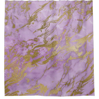 purple and gold shower curtain. Modern Lavender and Gold Marble Shower Curtain Curtains  Zazzle