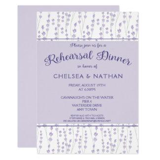 Modern Lavender Floral Rehearsal Dinner Invitation