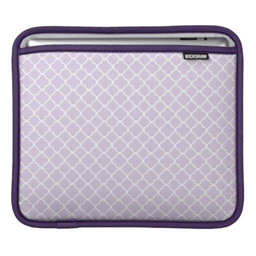 Modern Lavender Quatrefoil Pattern iPad Sleeve