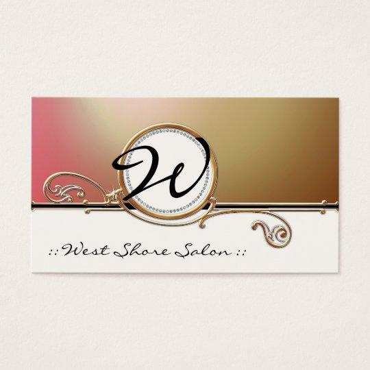Modern Lavish Elegant Upscale Jewel Look Salon Spa Business Card