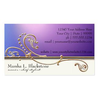 Modern Lavish Elegant Upscale Jewel Look Salon Spa Business Card Templates