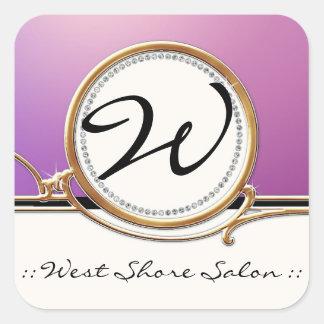 Modern Lavish Elegant Upscale Jewel Look Salon Spa Sticker