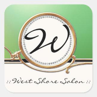 Modern Lavish Elegant Upscale Jewel Look Salon Spa Stickers