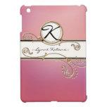 Modern Lavish Elegant Upscale Jewel Pink Monogram Cover For The iPad Mini