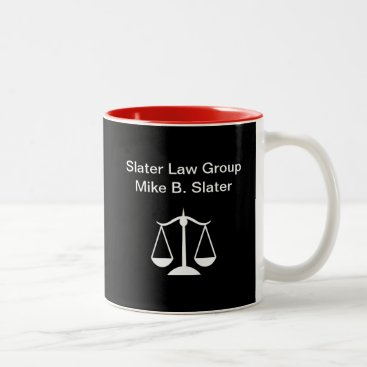 Lawyer Themed Modern Law Office Two-Tone Coffee Mug