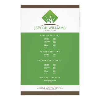 Modern Lawn Care/Landscaping Flyer