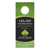 Modern Lawn Care/Landscaping Grass Logo Black Door Hanger