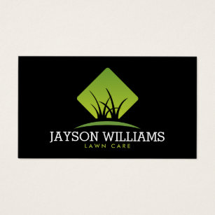 Landscaping business cards templates zazzle modern lawn carelandscaping grass logo ii business card wajeb Choice Image