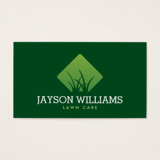 Modern Lawn Care/Landscaping Grass Logo IV Business Card