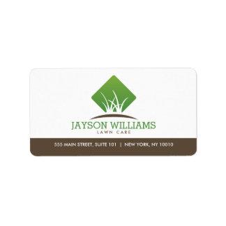 Modern Lawn Care/Landscaping Grass Logo Label