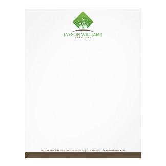 Modern Lawn Care/Landscaping Grass Logo Letterhead