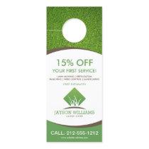 Modern Lawn Care/Landscaping Grass Logo White Door Hanger