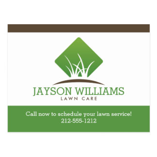 Modern Lawn Care/Landscaping Promotional Postcard