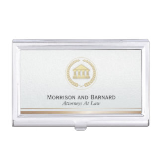 Modern Lawyer Attorney Faux Gold Courthouse Business Card Case