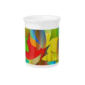 Modern leaf design drink pitcher