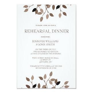 Modern leaf rehearsal dinner invitations