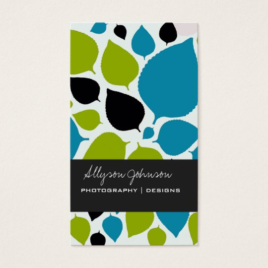 Modern Leaves Background Business Cards