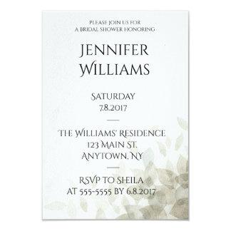 Modern leaves bridal shower invitations