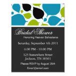 "Modern Leaves Bridal Shower Invitations 4.25"" X 5.5"" Invitation Card"