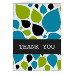 Modern Leaves Thank You Background Card