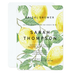 Modern Lemon Bridal Shower Invitation
