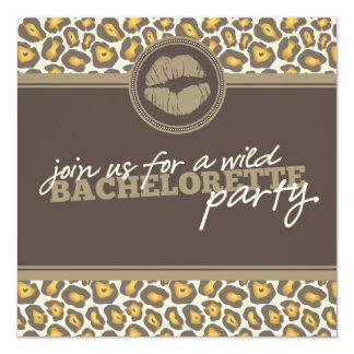 Modern Leopard Fun Bachelorette Party Invitation