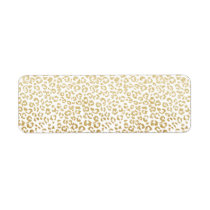 Modern leopard pattern luxury faux gold glitter label