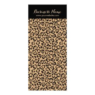 Modern Leopard Print Background Rack Cards