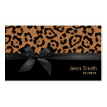 Modern Leopard Print Florist Double-Sided Standard Business Cards (Pack Of 100)