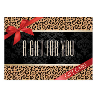 Modern Leopard Print Gift Certificates Large Business Card