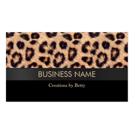 Leopard business card templates page4 bizcardstudio modern leopard print jewelry designer business cards colourmoves Image collections