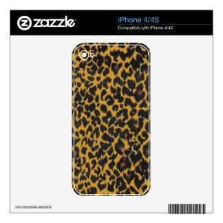 Modern Leopard Print Pattern - Bold Black Golden iPhone 4 Skin