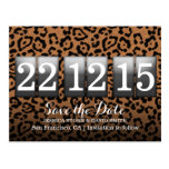 Modern Leopard Print Save the Date Postcard