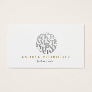 Modern Letterform Logo for Authors and Writers Business Card