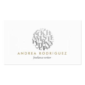 Modern Letterform Logo for Authors and Writers Double-Sided Standard Business Cards (Pack Of 100)