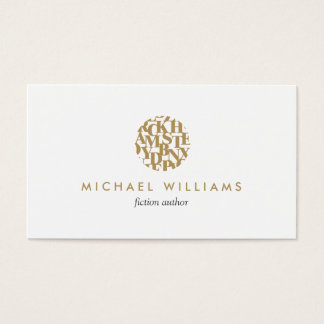 Modern Letterform Logo I for Authors and Writers Business Card