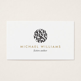 Modern Letterform Logo II for Authors and Writers Business Card