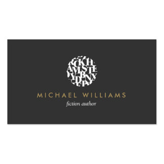 Modern Letterform Logo III for Authors and Writers Business Card Templates