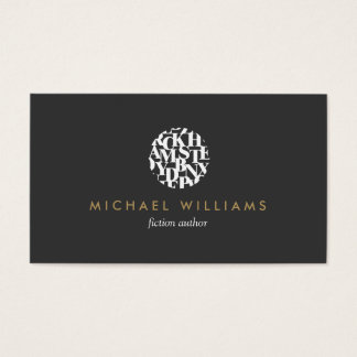 Modern Letterform Logo III for Authors and Writers Business Card