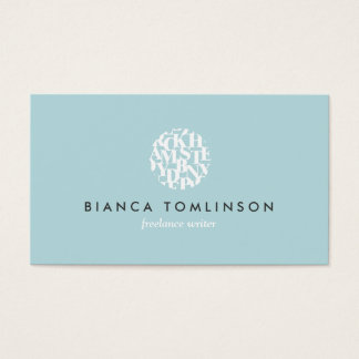 Modern Letterform Logo IV for Authors and Writers Business Card