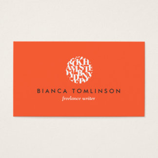 Modern Letterform Logo V for Authors and Writers Business Card