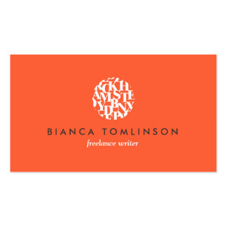 Modern Letterform Logo V for Authors and Writers Double-Sided Standard Business Cards (Pack Of 100)
