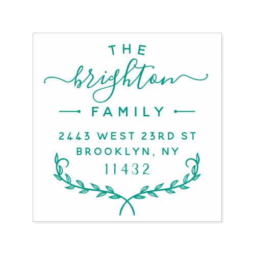 Modern Lettering Stylish Family Return Address Self_inking Stamp