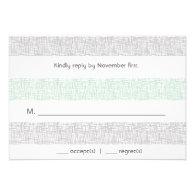 Modern Letterpress Style Wedding Reply Card