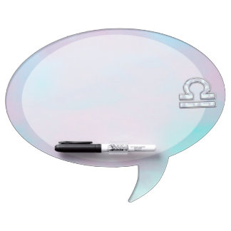 Modern Libra Zodiac Sign Mother of Pearl Style Dry Erase Board