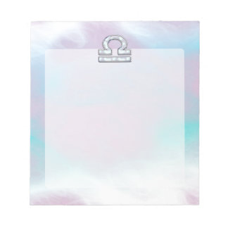 Modern Libra Zodiac Sign Mother of Pearl Style Note Pad